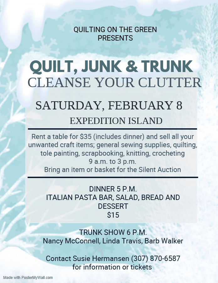 Quilt, Junk and Trunk-Cleanse Your Clutter